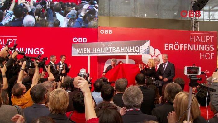 ÖBB Hauptbahnhof Wien Eröffnung