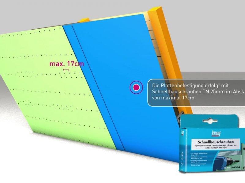 Trockenbau Dachboden Decke abhängen - Knauf Erklärvideo