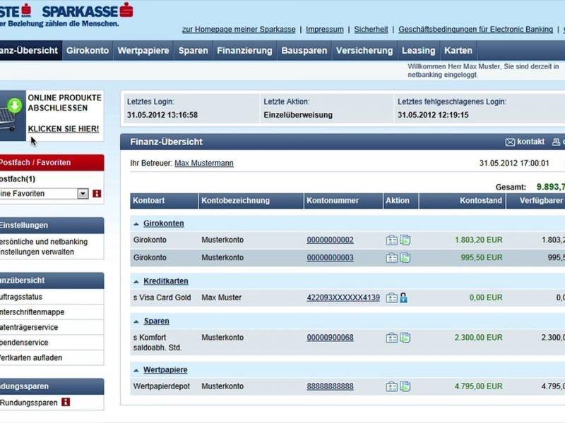 Erste Bank Netbanking Screencast Tutorialvideo